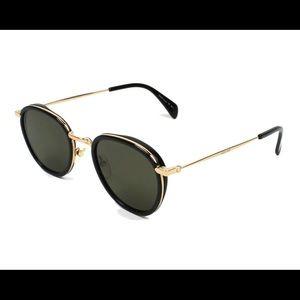 CELINE   41423/S Black & gold round frames